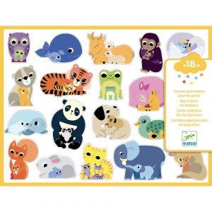 Djeco 9077 Sticker-Set Mütter und Babys