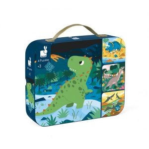 Janod 2657 Puzzle Koffer Dinosaurier