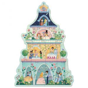 Djeco 7130 Riesenpuzzle Prinzessinnenturm
