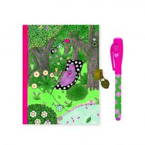Djeco 3613 Tagebuch und Notizbuch Fanny mit magischem Filzstift