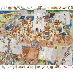 Djeco 7503 Puzzle Entdecker Die Burg 100 Teile