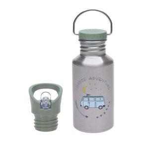 LÄSSIG Kinder Trinkflasche Edelstahl – Bottle, Adventure Bus
