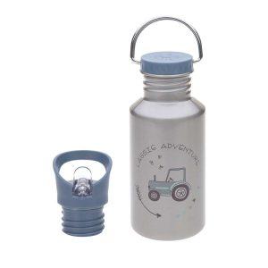 LÄSSIG Kinder Trinkflasche Edelstahl – Bottle, Adventure Traktor