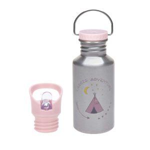 LÄSSIG Kinder Trinkflasche Edelstahl – Bottle, Adventure Tipi