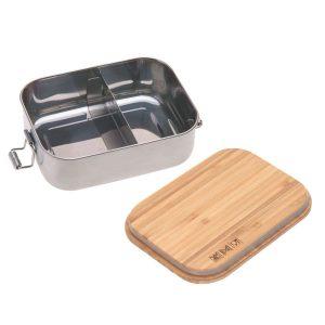 LÄSSIG Kinder Brotdose Edelstahl – Lunchbox, Garden Explorer