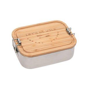 LÄSSIG Kinder Brotdose Edelstahl – Lunchbox, Adventure