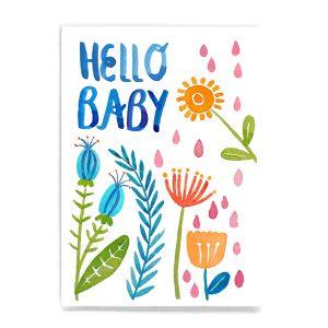 Frau Ottilie Postkarte *Hello Baby