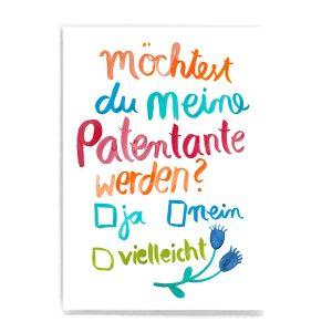 Frau Ottilie Postkarte Patentante
