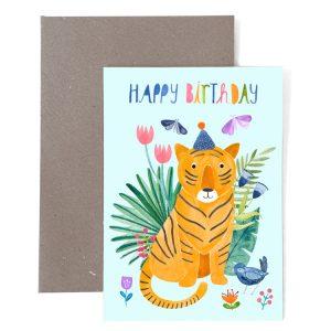 Frau Ottilie Grußkarte Happy Birthday Tiger