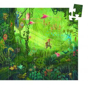 Djeco 7244 Silhouette Puzzle Im Dschungel 54 Teile