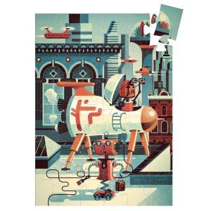 Djeco 7239 Silhouette Puzzle Bob der Roboter 36 Teile