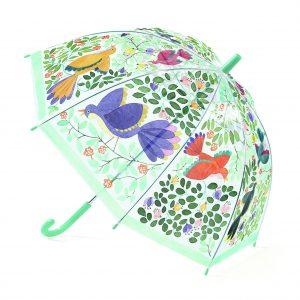 Djeco 4804 Regenschirm Blumen und Vögel