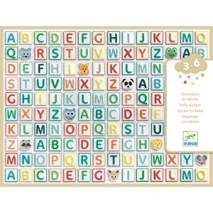 Djeco 9078 Stickerset Alphabet
