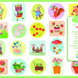 Djeco 9087 Stickerset Im Garten