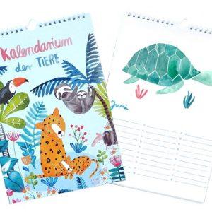 """Frau Ottilie Geburtstagskalender *Kalendarium der Tiere* (A4) Edition """"Dschungel"""""""