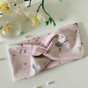 Knoten-Stirnband Ballerina rosa Größe: 1,5-2 Jahre