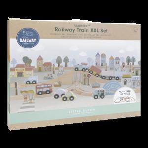 Little Dutch Holzeisenbahn XXL – Starter-Set